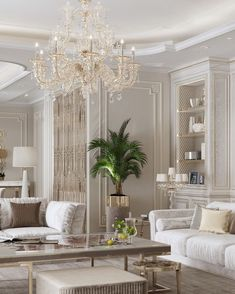 Design by Light interior pleases the eye with cleanliness and plenty of light, do you agree with me? Classic Living Room, Elegant Living Room, Formal Living Rooms, Home Living Room, Living Room Decor, Dining Room, Home Room Design, Home Interior Design, Living Room Designs