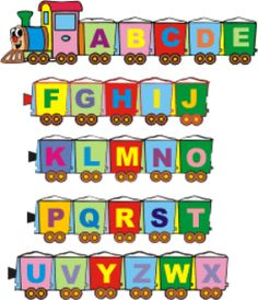 ALFABETO TRENZINHO Alphabet Display, Alphabet Art, Alphabet And Numbers, Nursery Class Decoration, School Board Decoration, Preschool Learning Activities, Alphabet Activities, Paper Cutting Patterns, Kids Area Rugs