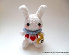 The White Rabbit in crochet. How cute