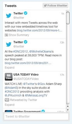 Twitter offers embeddable timeline tool, gives web designers new toy to play with