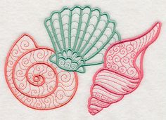 Light and Lovely Seashells design (L2912) from www.Emblibrary.com