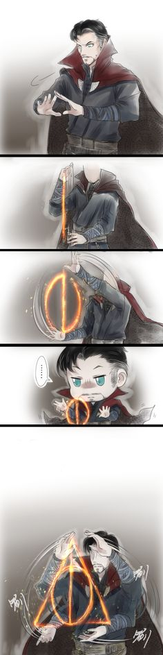 Doctor Strange and Harry Potter crossover Marvel Comics, Marvel Fanart, Marvel Funny, Marvel Memes, Funny Comics, Doctor Strange, Rage Comic, Fandom Crossover, Nightwing