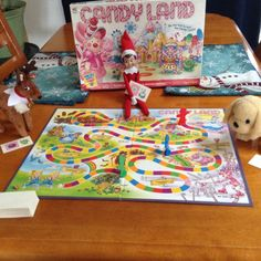 It looks like Jingles is cheating at the game of Candy Land.