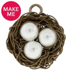 Wire Wrapped Bird's Nest   Fusion Beads   How To     Earth Day inspiration   #DIY #nest #birdnestpendant