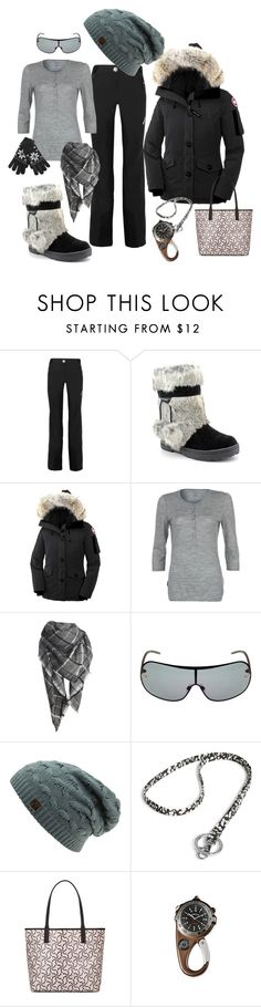 """""""Baby, It's Cold Outside"""" by tinky3buggs ❤ liked on Polyvore featuring Mover, Bearpaw, Canada Goose, Icebreaker, Dolce&Gabbana, Vera Bradley, Kate Spade and winterwear"""