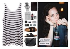 """""""oh my, how i delude myself ; kristen"""" by luanajimenez ❤ liked on Polyvore featuring T By Alexander Wang, Birkenstock, Mansur Gavriel, Visionnaire and Oliver Peoples"""