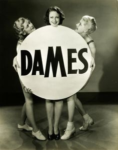 """Showgirls in a publicity still for """"Dames"""" (1934)."""