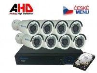 Securia Pro Kamerový set AHD8CHV1/1TB - bílá