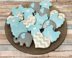 5 dozen cookies for an elephant themed baby shower in the Bay Area today.  Love the elephants and the chevron! Welcome to the world, sweet baby boy.. and thank you @vernsie_ for another order!  #cakemeaway #cakemeawayfresno #elephanttheme #elephantbabyshower #elephantcookies #chevroncookies #chevron #customcookies #decoratedcookies #sugarcookies #royalicing #edibleart #cookiesofinstagram #bakedwithlove #handmadewithlove #lovewhatido
