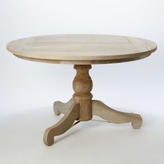 """Designed exclusively for terrain, this graceful pedestal table is crafted from durable, reclaimed teak with a weather-resistant finish.- A terrain exclusive- Teak, Weather Guard finish- Imported29.9""""H, 51.2"""" diameter"""