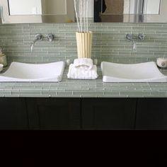 glass tile countertop
