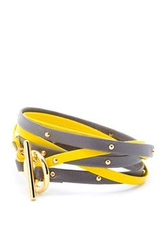 Gorjana Triple Wrap Bracelet - I am still in love with the hot yellow; wouldn't it be cool to see this bracelet also as a belt?