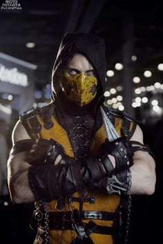 Scorpion Cosplay mortal kombat X by melonicor.deviantart.com on @DeviantArt