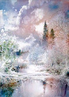 May Skies - Renewal, watercolor by Nita Engle