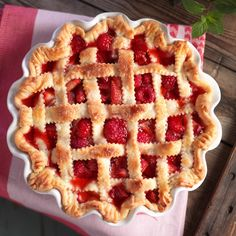 This Strawberry & Raspberry Pie is a classic for a reason!  go ahead and give it a try and let us know what you think.