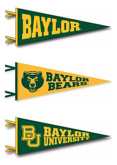 A Baylor pennant is just a requirement for your dorm! Click through to search different options.