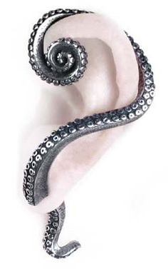 Alchemy Gothic - E309 - Kraken Tentacle Earring Cuff Stud [E309] - £14.99 : Gothic Clothing, Gothic Boots & Gothic Jewellery. New Rock Boots, goth clothing & goth jewellery. Goth boots and alternative clothing