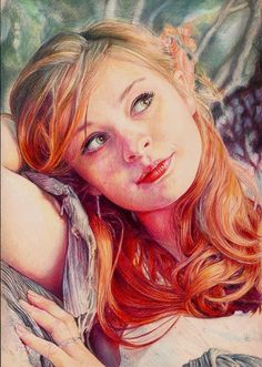 Yulia Colour Pencil Portrait by Pevansy.deviantart.com on @DeviantArt More