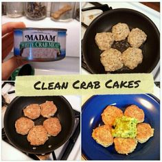 Clean crab cakes. Flax can be omitted and  replaced with flax