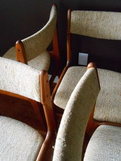 Mid Century Danish Modern Teak Dining Chairs