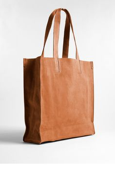 Ciel Light Cognac Tote Bag by CALA & JADE