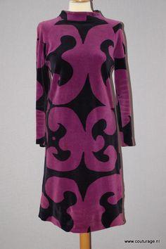 Marimekko japon uit jaren 60 van velours(1960E071)
