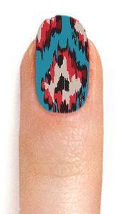 Ikat Nail Foils by NCLA x Secession. Cute, no? @Laura Jayson Jayson Miller