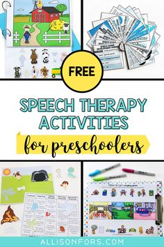 Free Speech Therapy Activities for Toddlers and Preschoolers