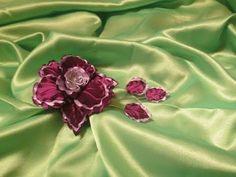 Мастер класс по изготовлению цветка из ткани своими руками. Орхидея -фантазия в виде заколки в волосы. Мастер класс ведет Елена Шевченко. все выкройки у меня...