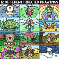 Directed Drawing and MORE Editable Calendar and Writing Fall Drawings, Bird Drawings, Drawing For Kids, Art For Kids, Draw Slides, Kindergarten Drawing, Christmas Gifts For Parents, Directed Drawing, Drawing Activities