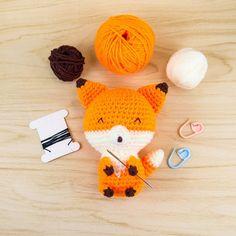 Kito the Fox Amigurumi Kit