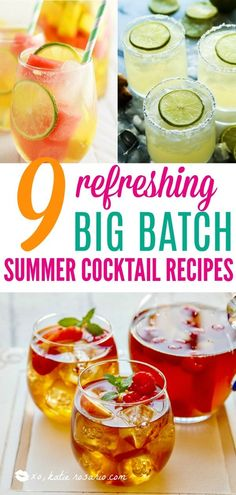 20 refreshing cocktails and mocktails to enjoy during the hot days and nights of summer or on Memorial Day! Easy Mocktail Recipes, Sangria Recipes, Margarita Recipes, Cocktail Recipes, Drink Recipes, Easy Mocktails, Cocktail Shots, Fun Recipes, Gastronomia