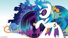 Vinyl Scratch Silhouette Wall by *SpaceKitty on deviantART
