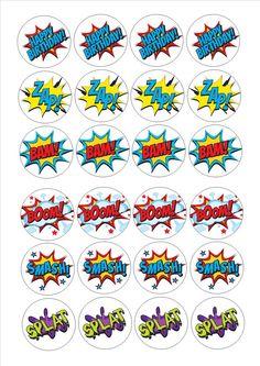 24 Diseños de pastel de cumpleaños decoraciones 6 por Print4you, £1.59