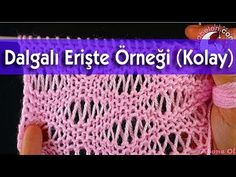 Dalgalı Erişte Örgü Modeli - (Wavy noodles knitting) - YouTube Free Baby Blanket Patterns, Baby Knitting Patterns, Lace Knitting, Knitting Stitches, Crochet Patterns, Knitting Videos, Crochet Videos, Knitted Baby Blankets, Knitted Hats