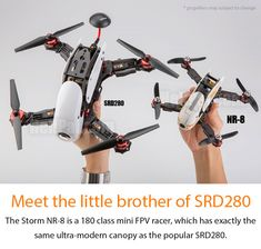 The miniature version of the popular SRD280 Ready to Fly Storm NR-8 with CC3D Controller (LibrePilot software)  Meet the smart little  brother of the beautiful SRD280: the Storm NR-8 mini FPV racer! This compact  m
