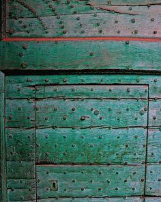 door detail in Fontanellato, Italy
