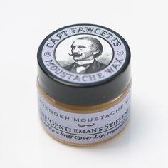 Captain Fawcetts Moustache Wax Lavender - The Emporium Barber Mens Beard Care Products