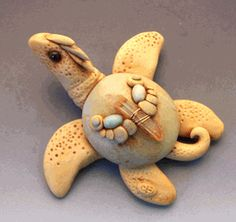 polymer clay sea turtle