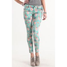 NWOT Pacsun Floral Jeans These jeans were only worn once to try on! They're a size 5 so it can fit 27 waist. PacSun Jeans