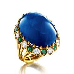 verdura jewelry rings   Verdura Vintage Sapphire Ring. Vintage 60.75 carat oval cabochon ...