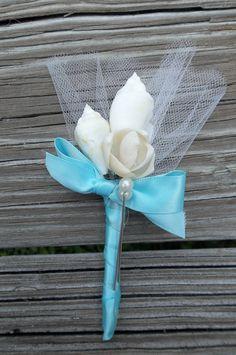Seashell Wedding Boutonniere.