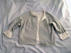 DIY Sweatshirt Cardigan « a pair & a spare