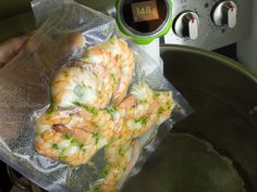 How to Sous Vide Shrimp - Recipe and Instructions Shrimp Recipes, Fish Recipes, Shrimp Dishes, Sous Vide Shrimp Recipe, Anova Recipes, Joule Sous Vide, Ways To Cook Shrimp, Sous Vide Cooking, Gourmet