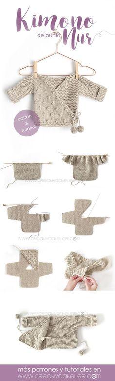Knit Baby Kimono - Pattern and Tutorial - Knit Baby - Baby # . Knit Baby Kimono - Pattern and Tutorial - Knit Baby - Baby # . Baby Knitting Patterns, Baby Patterns, Free Knitting, Crochet Patterns, Motif Kimono, Kimono Pattern, Baby Blanket Crochet, Crochet Baby, Kimono Tutorial