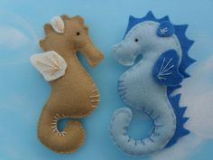 Felt Seahorses....these might be easier to make...