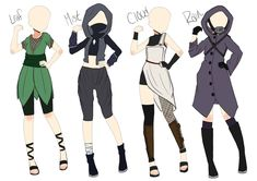 [Closed]Naruto Outfit adopt batch 1 by AzaHana on DeviantArt Fashion Design Drawings, Fashion Sketches, Ninja Outfit, Naruto Clothing, Costume Armour, Anime Ninja, Clothing Sketches, Naruto Girls, Naruto Oc