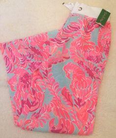 84.14$  Buy now - http://vidkb.justgood.pw/vig/item.php?t=rfsioam22897 - NWT XL Lilly Pulitzer Beach Pants Pant Linen Large New Love Birds Blue 84.14$