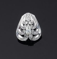 Mauboussin - Diamond clip, circa 1935