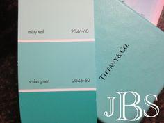 Benjamin Moore Scuba Green - Tiffany Blue
